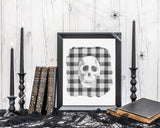 Skeleton Skull Halloween Printable Wall Art, Digital Download