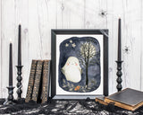 Ghost Digital Print, Halloween Printable Wall for Kids, Instant Digital Download