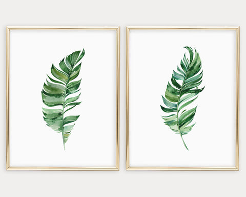 Botanical Set of 2 Printable Wall Art, Digital Download