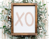 Blush Pink XO Printable Wall Art, Digital Download