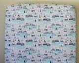 Woodland Pine TeePee Fitted Crib Sheet or Changing Pad Cover