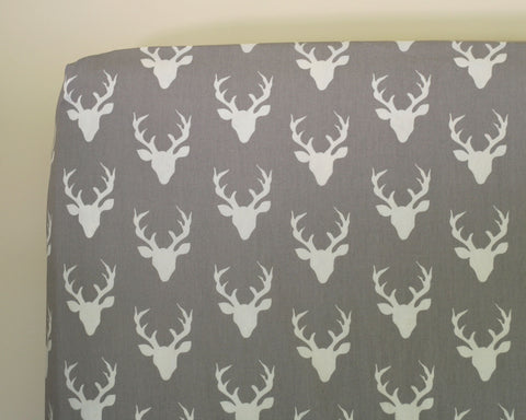 Buck Forest Mist Fitted Crib Sheet or Changing Pad Cover