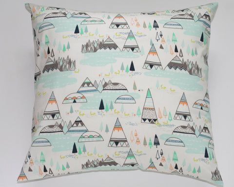 Woodland Pine Tee Pee Nursery Pillow Cover