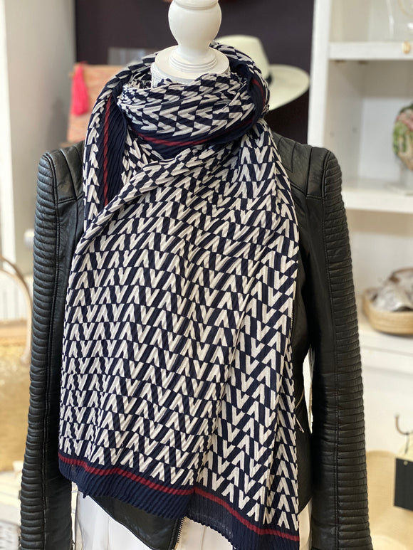 New Season Cleo Scarf - Navy