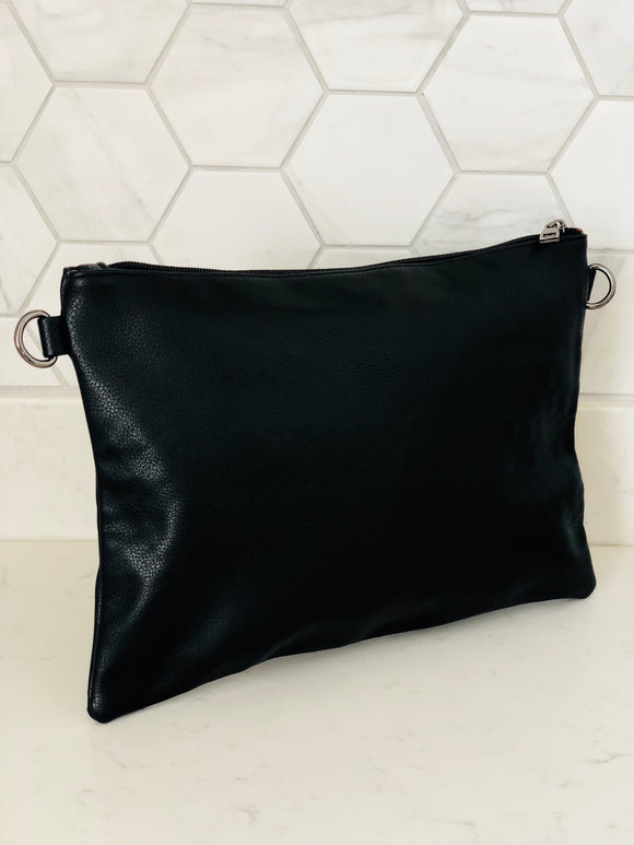 Black Large Clutch Bag - Chic Accessory