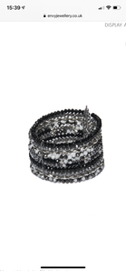 New Emma Bead Cuff Bracelet - Black