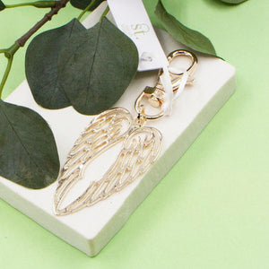 New Angel Wings Keyring - Rose Gold