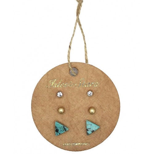 New Season Trio of Earrings - Turquoise
