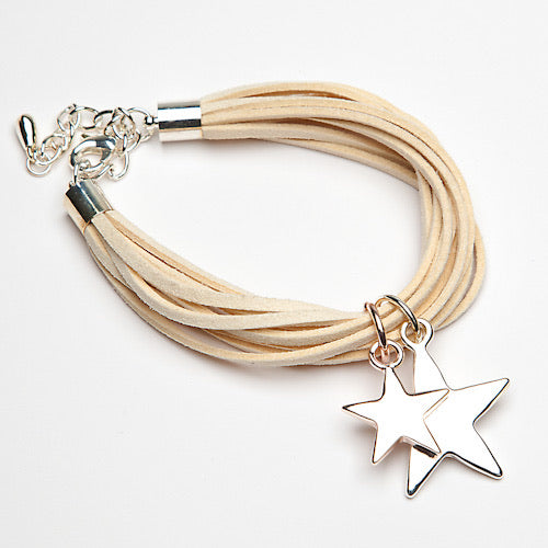 New Season Star Bracelet on Leather Band
