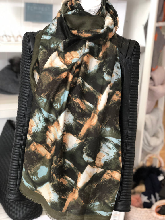 Sale The Kate Scarf - Khaki