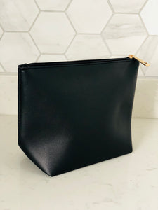 Black Zip Detail Clutch Bag - Chic Accessory
