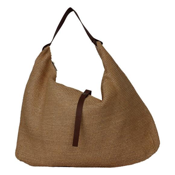 NEW Season Natural Beach Tote with Tan Strap