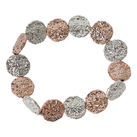 NEW Season Circle Bracelet - Hammered Effect - 2 Colours available