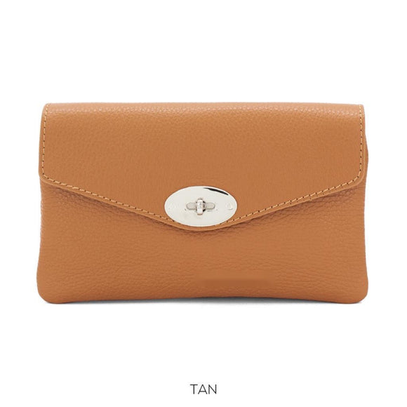 New Macie Clutch / Crossbody Handbag - Tan
