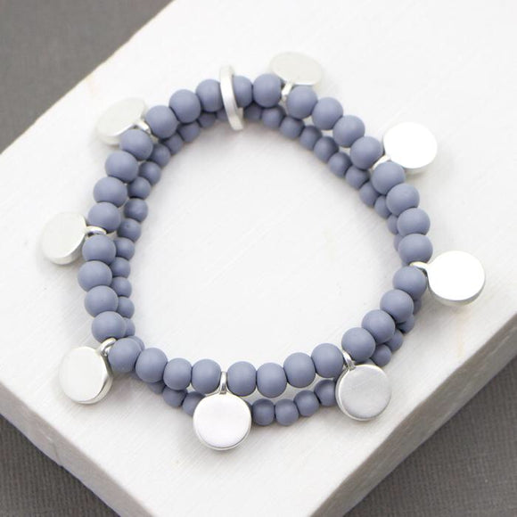 Sale Double Strand Bead Bracelet - Blue