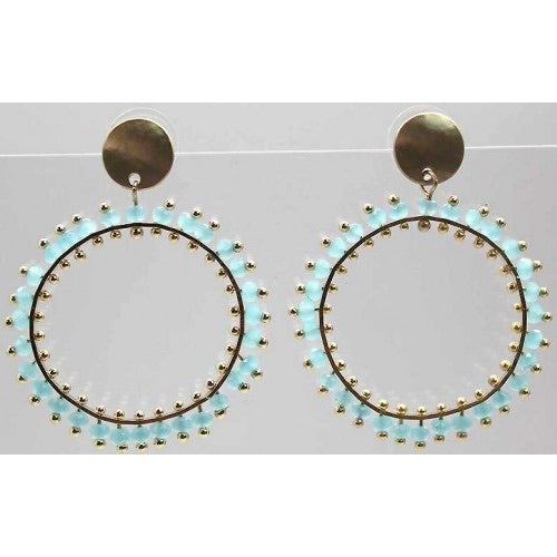 New Season Colour splash Circle Earrings
