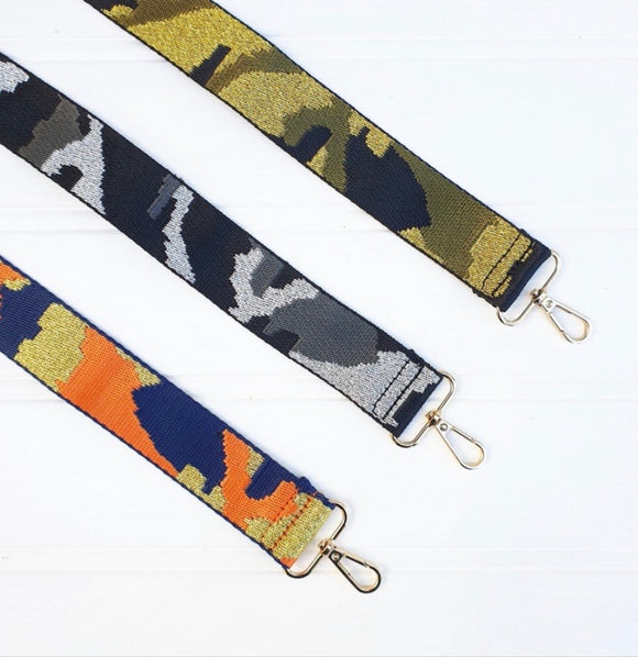 New Season Orange Camo Bag Strap