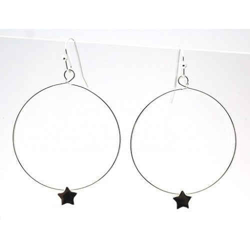 New Season Star circle Earrings