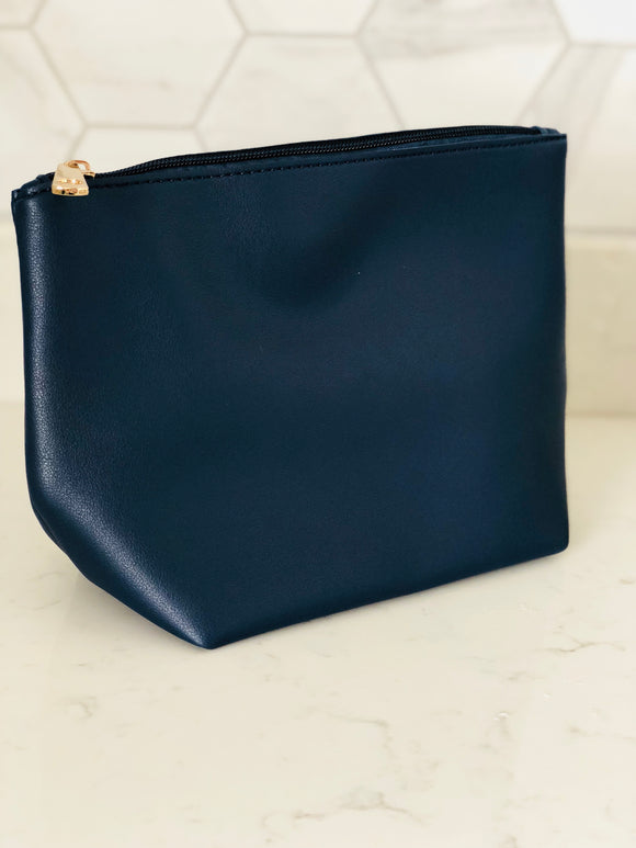 Navy Zip Detail Clutch Bag - Chic Accessory
