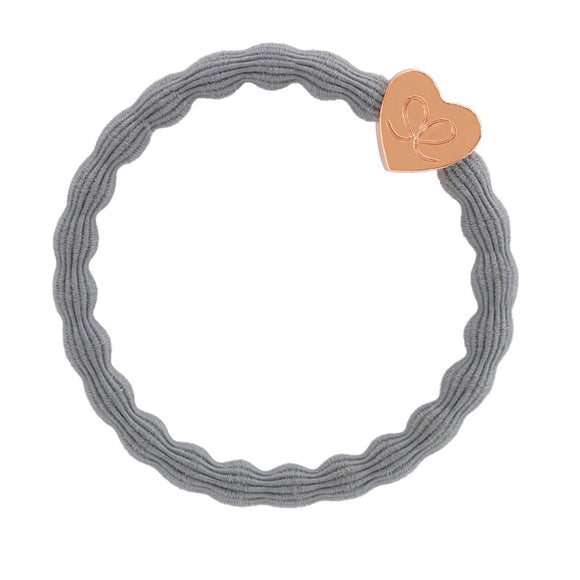Rose Gold Heart Band - Storm Grey