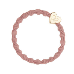 Gold Heart Band - Champagne Pink