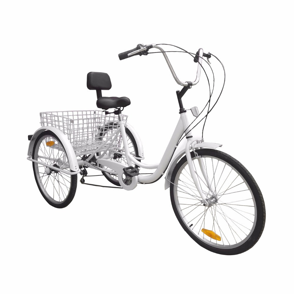 3 Wheel 6 Speed Adult 24 Tricycle Bike With Basket Bennetts