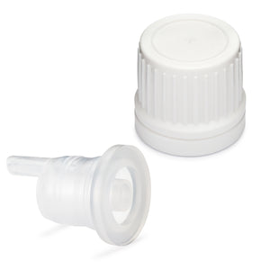 Tamper Evident EuroDrop Cap assembled to 0.70mm Vertical Dropper Insert