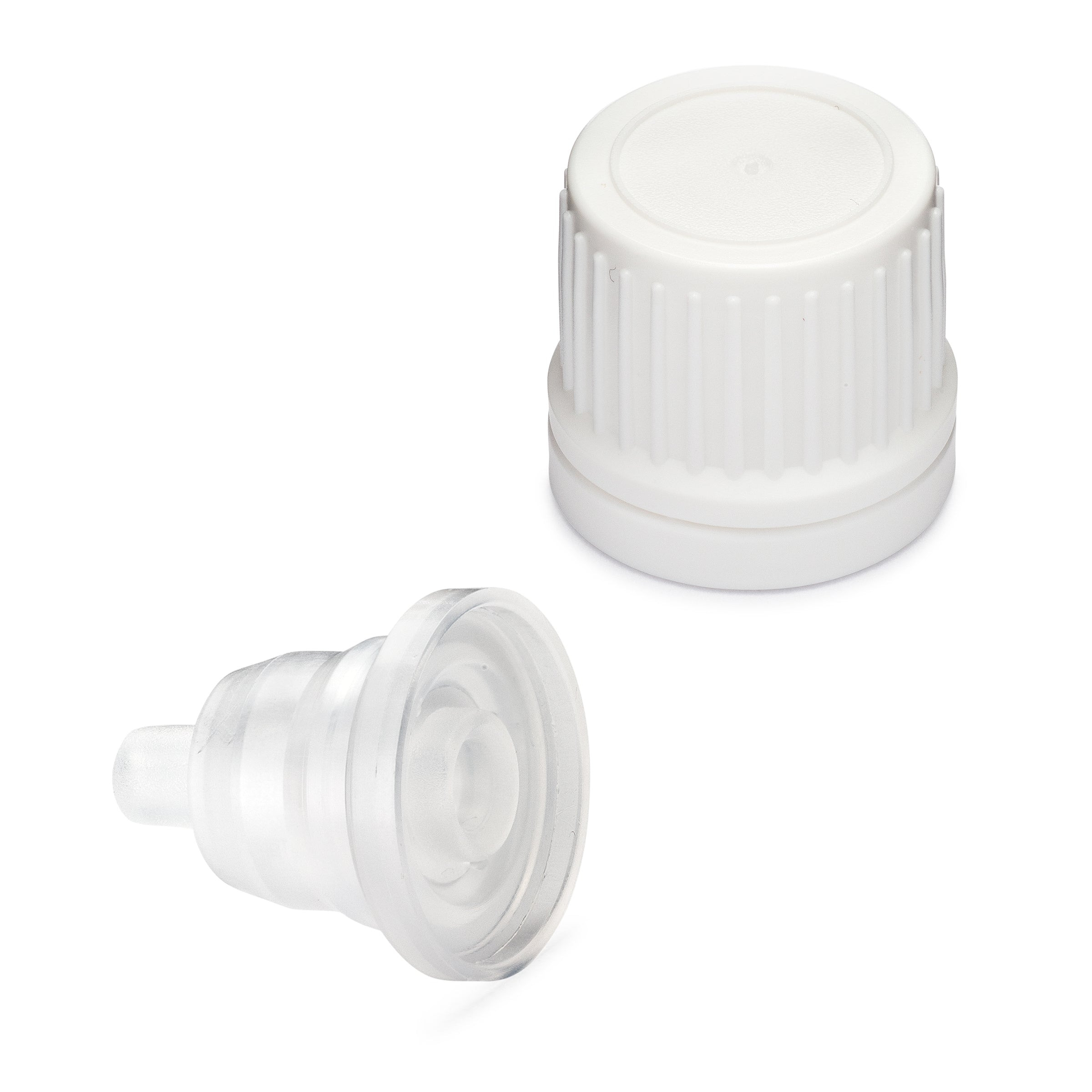 Tamper Evident EuroDrop Cap assembled to 0.80mm Horizontal Dropper Insert
