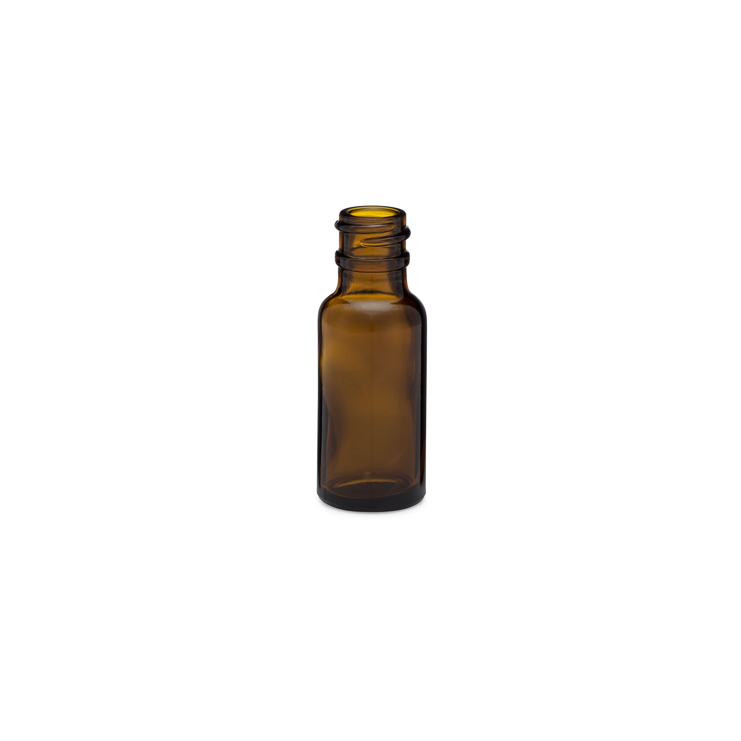0.5oz/15ml Amber Boston Round Bottle