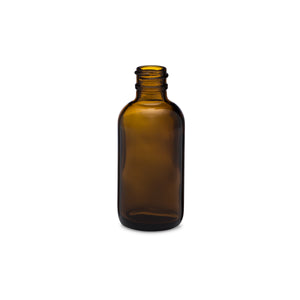 2oz/60ml Amber Boston Round Bottle