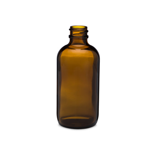 4oz/120ml Amber Boston Round Bottle