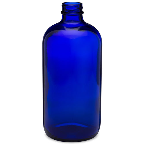 16oz/480ml Blue Boston Round Bottle