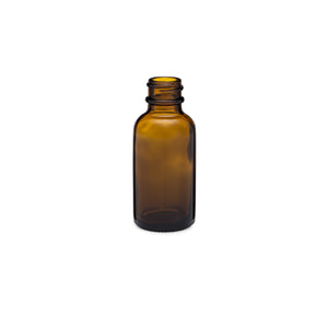 1oz/30ml Amber Boston Round Bottle