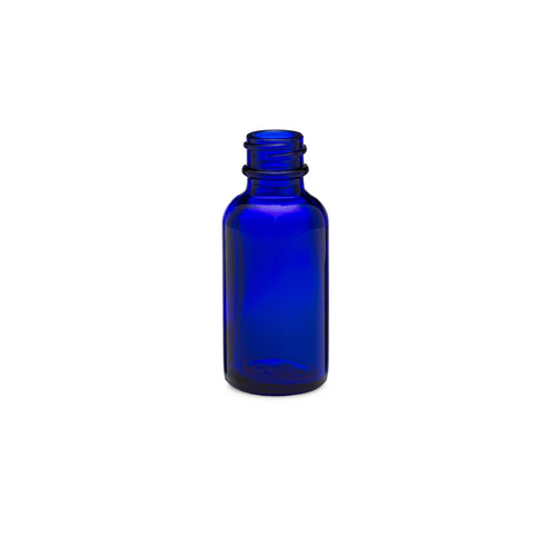 1oz/30ml Blue Boston Round Bottle
