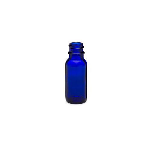 0.5oz/15ml Blue Boston Round Bottle