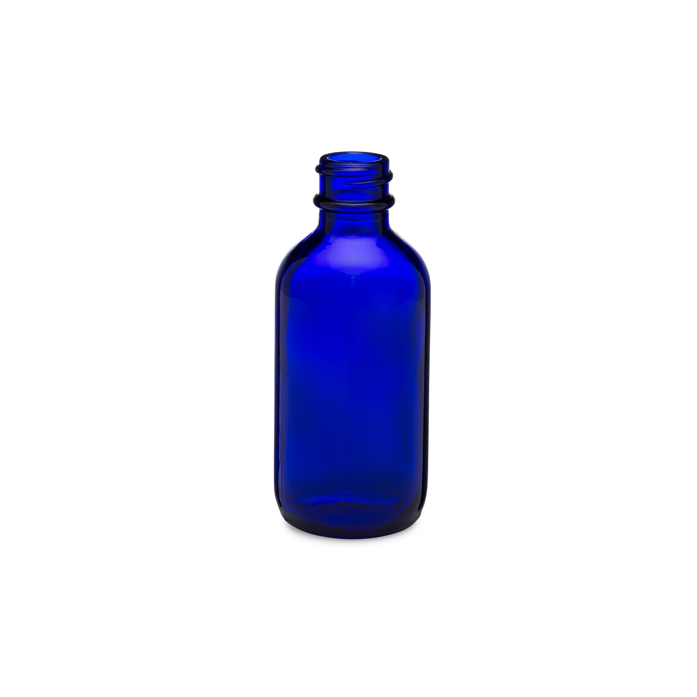 2oz/60ml Blue Boston Round Bottle