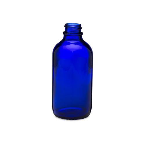 4oz/120ml Blue Boston Round Bottle