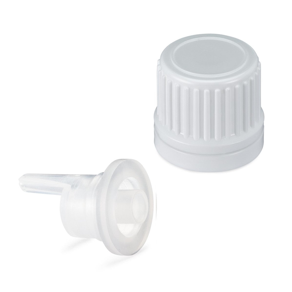 *USA* Tamper Evident EuroDrop® Cap assembled to 0.85mm Vertical Dropper Insert
