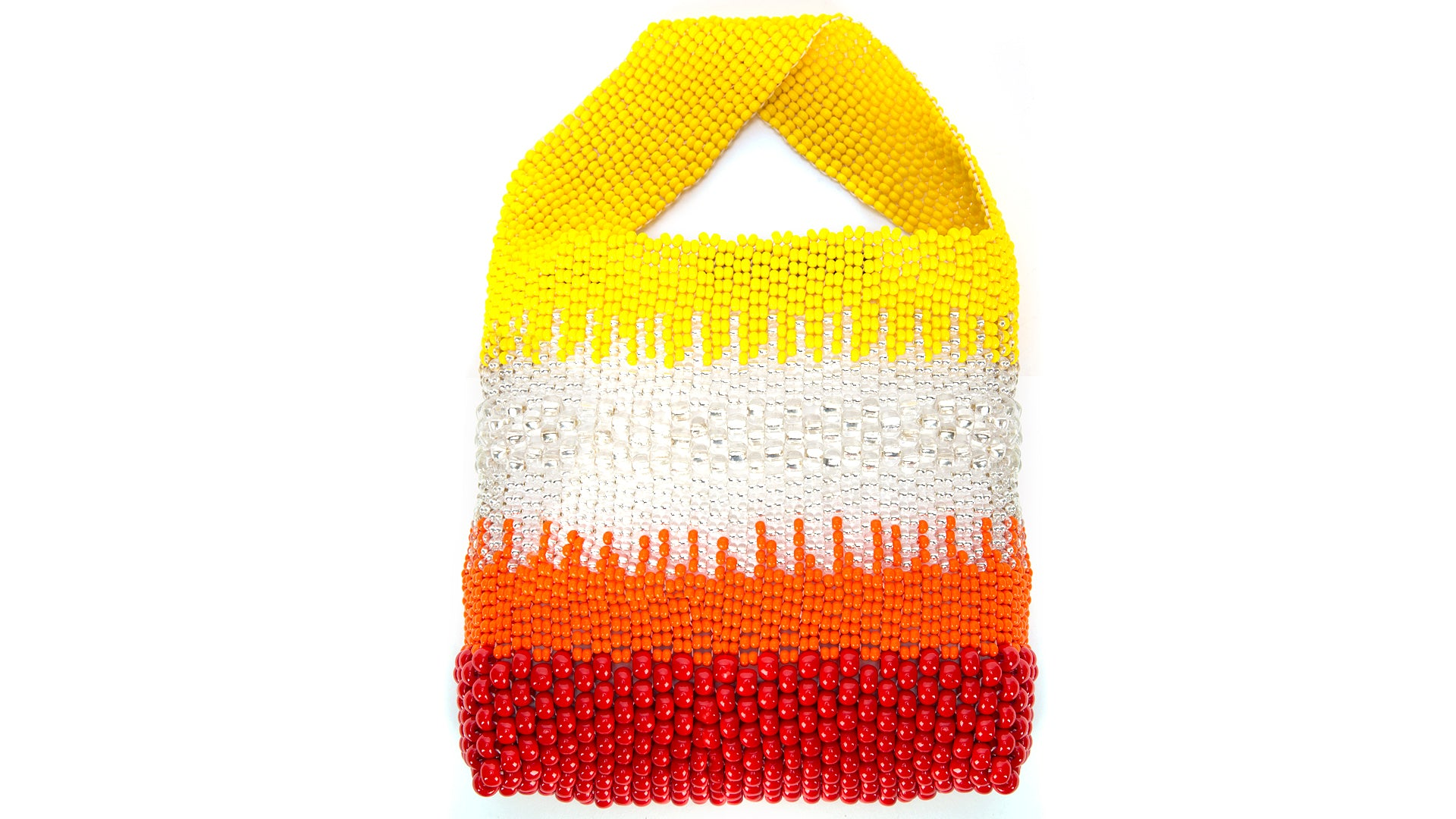 TRUSS Beaded Party Bag in Red, Yellow & Orange