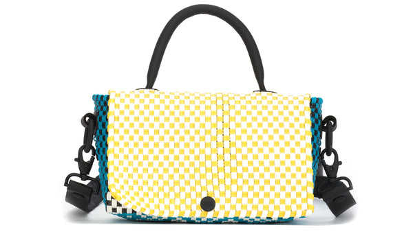 TRUSS Mini Top Handle Crossbody in Turquoise, Yellow, Green