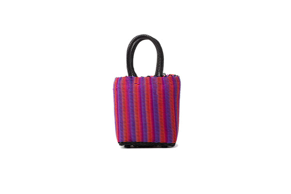 TRUSS Micro Tubeweave Tote in Pink/Orange/Purple