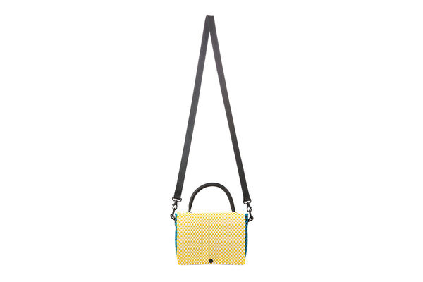 TRUSS Large Top Handle Crossbody in Turquoise, Yellow, Green