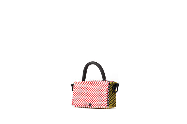 TRUSS Crossbody Mini Top Handle Crossbody in Red, Yellow, Orange