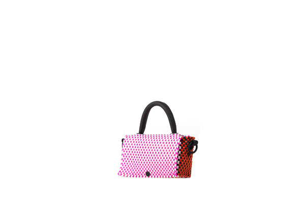 TRUSS Crossbody Mini Top Handle Crossbody in Pink & Orange