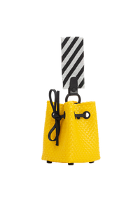 TRUSS Glass Bead Strap Party Bag in Yellow