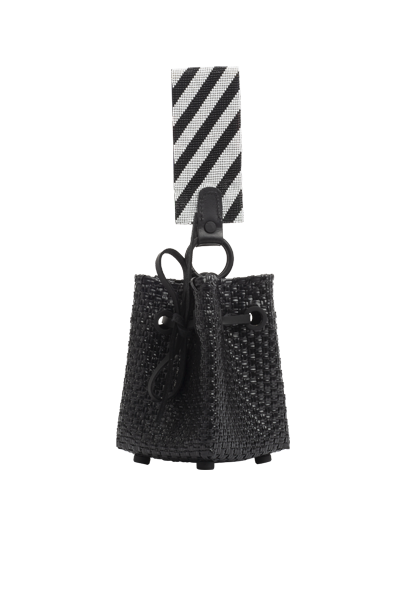TRUSS Glass Bead Strap Party Bag in Black
