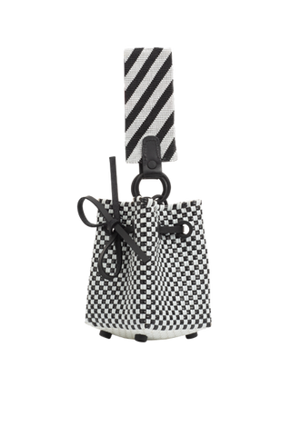 TRUSS Glass Bead Strap Party Bag in B&W