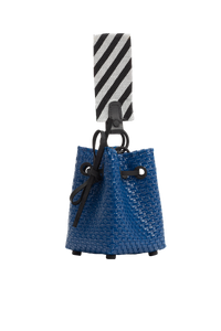 TRUSS Glass Bead Strap Party Bag in Navy