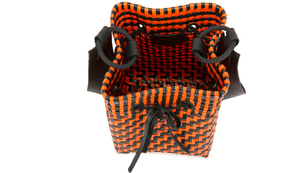 TRUSS Medium Square Bucket Bag in Orange