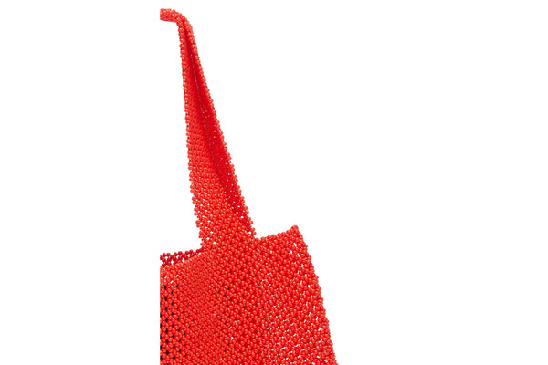 TRUSS Beaded Teeny Tiny Tote in Red